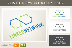 Linked Network Logo Template