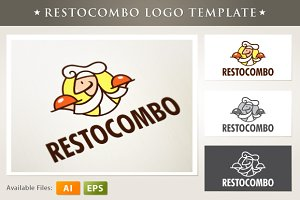 Resto Combo Logo Template