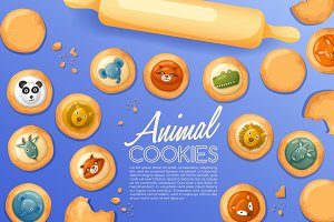 Cute Animal Cookies Set3