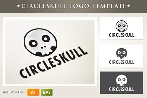 Circle Skull Logo Template