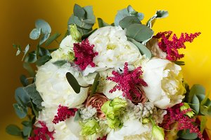 Wedding flowers close-up