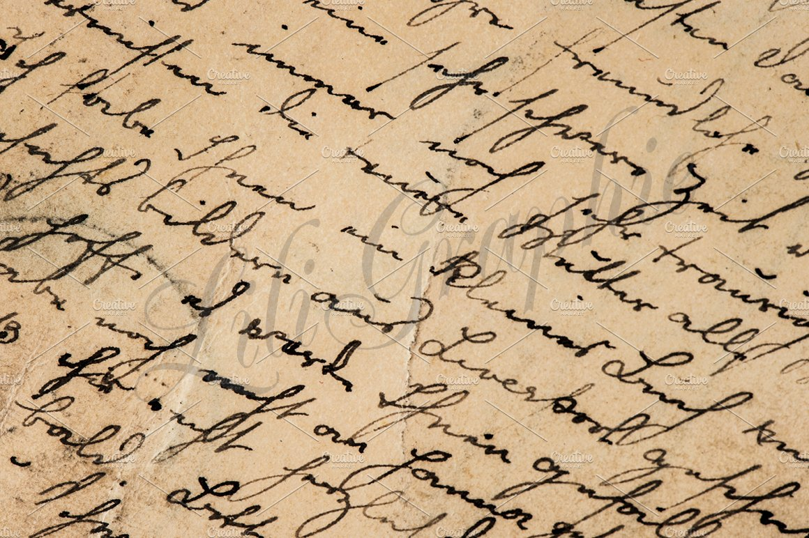 Aged Paper. Antique Handwriting