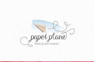 Paper Plane Logo Design - Origami
