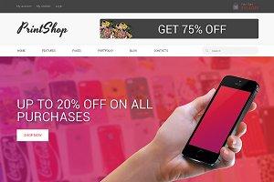 PrintShop Responsive Bootstrap Theme