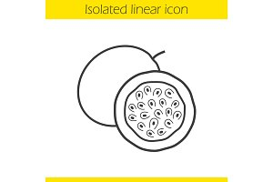 Passion fruit linear icon