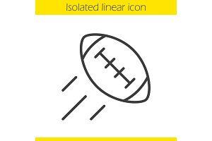 American football ball linear icon