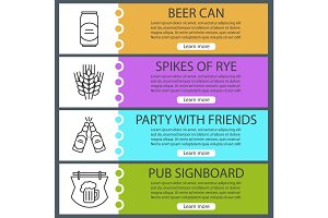 Beer banner templates set