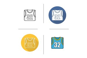 Basketball player's shirt icon