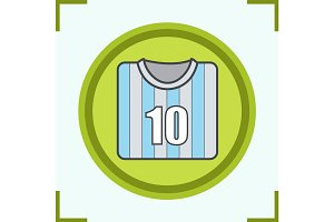 Soccer player's shirt color icon