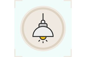 Ceiling lamp color icon