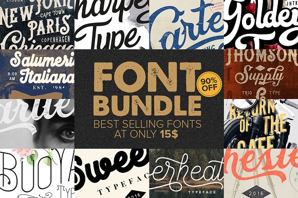 Font Bundle Best Sellers 90% OFF