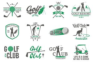 Set of Golf club badges