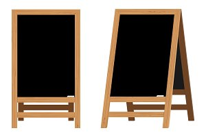 Set of Menu Black Boards.Vector illustration.
