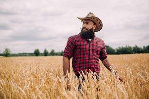 Bearded man.
