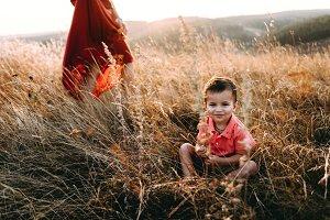 Portrait of a sunny boy