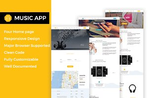 Music App- Responsive HTML5 Template