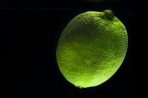 Fresh lime on dark