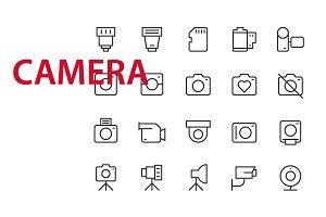 20 Camera UI icons