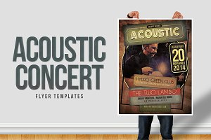 Acoustic Concert Flyer Templates