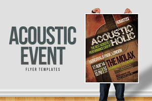 Acoustic Event Flyer Templates