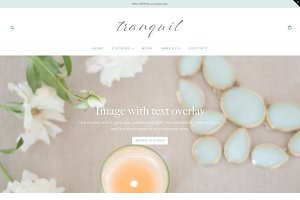 Feminine Shopify Theme - Tranquil