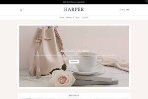 Feminine Shopify Theme - Harper