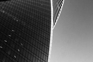 Modern glass office building.