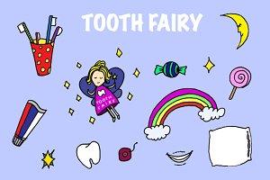 Tooth fairy vector illustration