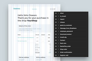 Prestashop e-mail PSD templates