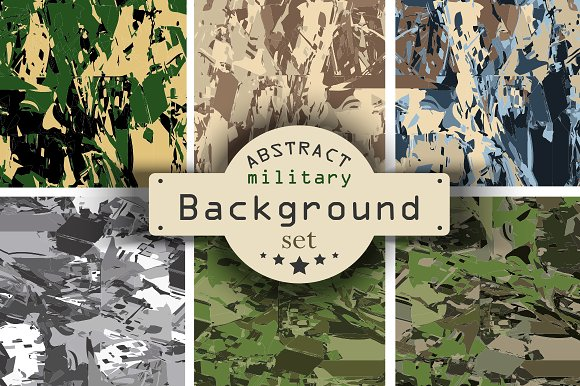 6 Camouflage Backgrounds Collection
