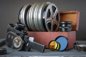 Coils with film and camera