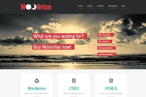 Moonrise - flat WordPress Theme