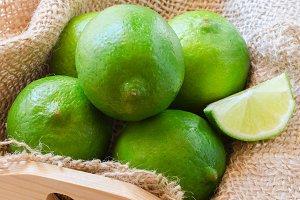 Lime fruit background.
