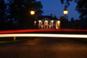 Speed of light at the house up hill
