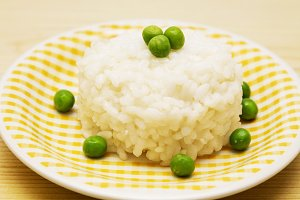 rice dish with peas