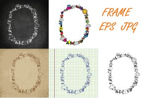 Oval baby frame