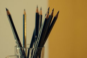 Pencils in a Glass