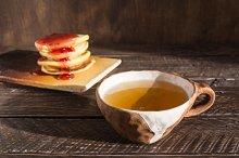 tea in a ceramic cup
