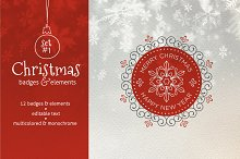 Christmas Badges. Set #1