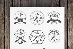 Vintage hunting logos (Set 1)