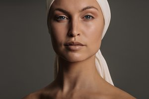 Woman with fresh clean skin