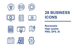 28 BUSINESS ICONS