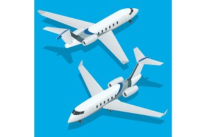 Business aircraft. Corporate jet. Airplane. Private jets. Flat 3