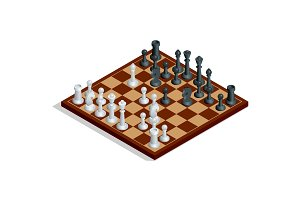 Chess board, chess game. Chess on chessboard. Winning concept. F