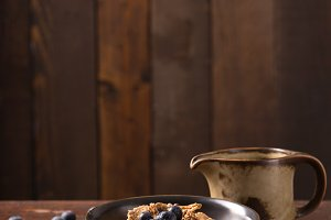 muesli with blueberry