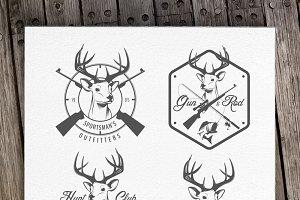 Vintage hunting logos (Set 2)