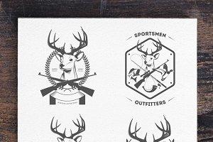 Vintage hunting logos (Set 3)