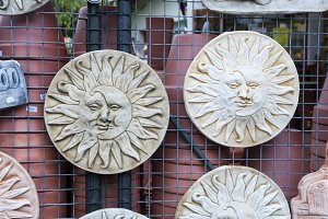 ceramic sun and moon
