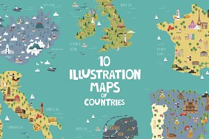 10 Illustration maps