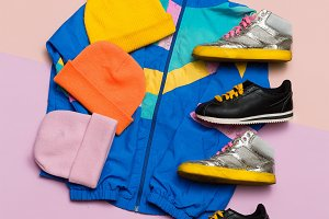 Vintage sportswear. Hipster style.